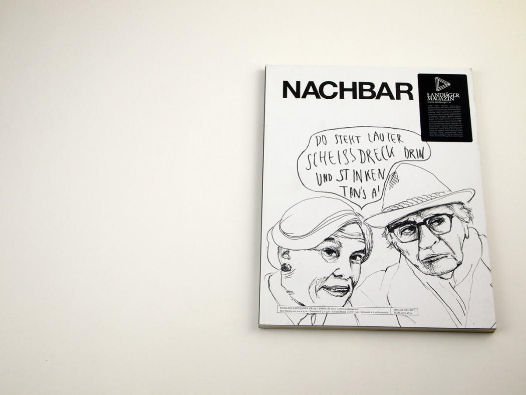 Landjäger Magazin Nachbar: Cover: Elke Bauer